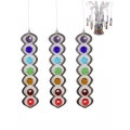7 Chakra Crystals Spiral Suncatchers & Display Stand Pack