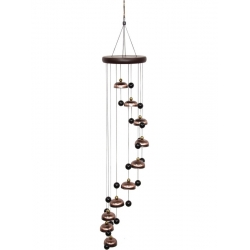 10 Brass Bells Spiral Wind Chime (Large)