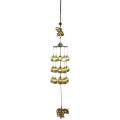 Brass Elephant & 18 Bells Wind Chime