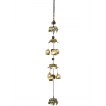 Brass Elephants Coins & Bells Wind Chime