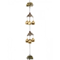 Brass Elephants & 6 Bells Wind Chime