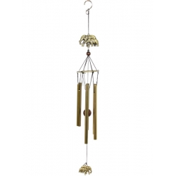 Brass Elephants & Lucky Coin Wind Chime