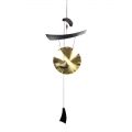 Brass Hanging Gong Wind Chime/Wall Art