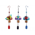 Metal Mushroom & Insect with Bell Wind Chime