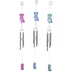 Acrylic Owl Wind Chime