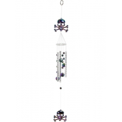 Acrylic Skull with Balls Wind Chime