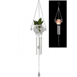 Glass Candle Holder/Planter Wind Chime