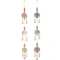 Brass Triple Tree of Life Bells & Beads Wind Chime