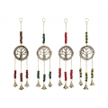 Brass Tree of Life Bells & Beads Wind Chime