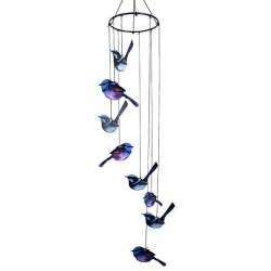 Metal 8pc Blue Wrens Wind Chime