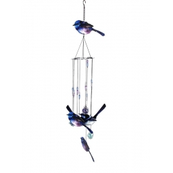 Metal 5pc Blue Wrens Wind Chime