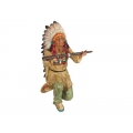 Indian Chief Kneeling Giving Gift (Large)