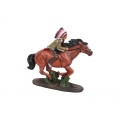 Indian Riding Horse on Stone Base