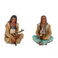 Native Indian Warrior with Peace Pipe