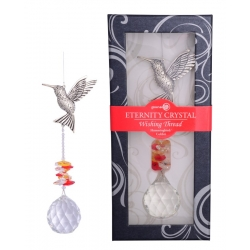 Eternity Crystal & Hummingbird Suncatcher