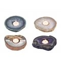 Genuine Agate Decor Tealight Holder