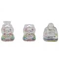 Multi Colour Crystal Glass Buddha