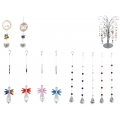 Crystal Hanging Suncatchers & Metal Display Stand Pack