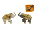 Metal Lucky Jewelled Elephant in Gift Box (Large)