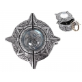 Silver Celtic Dragon Glass Orb Box
