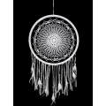 White Crochet & Lace Design Dream Catcher (Large)