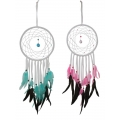 White Suede Dream Catcher & Crystal Suncatcher