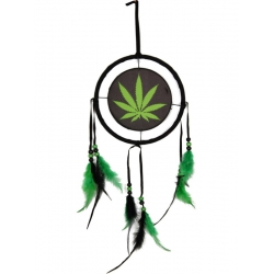 Hemp Leaf Design Dream Catcher