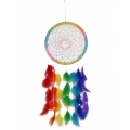 Rainbow Chakra Feathers Dream Catcher