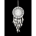 White Crochet Design Dream Catcher (Medium)