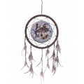 Grey Wolf Design Dream Catcher