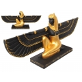 Egyptian Goddess Isis on Hieroglyphics Base