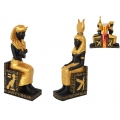 Egyptian King/Queen on Hieroglyphics Base Bookend