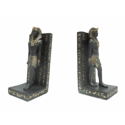 Egyptian King Stone Hieroglyphics Bookends (2pc Set)