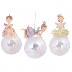Flower Fairy on Glass Ball Mobile/Hanger