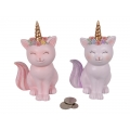 Cat Unicorn Floral Design Money Box