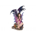 Dragon Queen Fairy on Rock Base