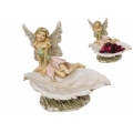 Stone Fairy on Leaf Dish/Feeder