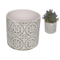 Cement Filigree Design Pot Holder