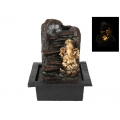 Ganesh Waterfall Fountain with Light (Gold)
