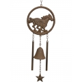 Metal Cast Iron Horse & Bell Wind Chime