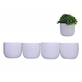 Ceramic White Pot with Pattern