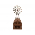 Metal Rustic Barn House with Windmill