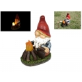 Gnome with Solar Light Camp Fire