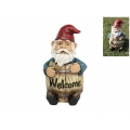 """Gnome in """"Welcome"""" Barrel"""