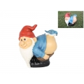 Naughty Gnome with Blue Bird