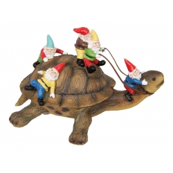 Gnomes Riding Turtle (Large)