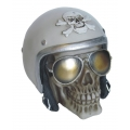 Skull Policeman with Helmet & Sunnies