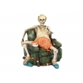Skeleton with Beer on Couch