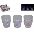 Flashing LED Skull Shot Glass