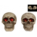 Celtic Skull with Red Gemstone Eyes